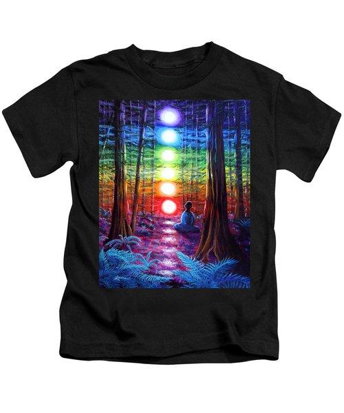 Chakra Meditation In The Redwoods Kids T-Shirt