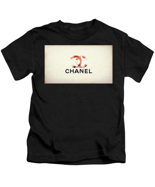 Chanel Floral Texture  Kids T-Shirt