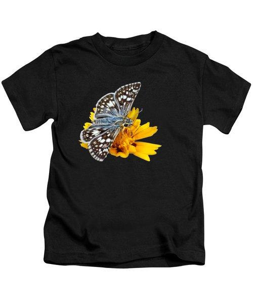Checkered Skipper - Square - Transparent Kids T-Shirt