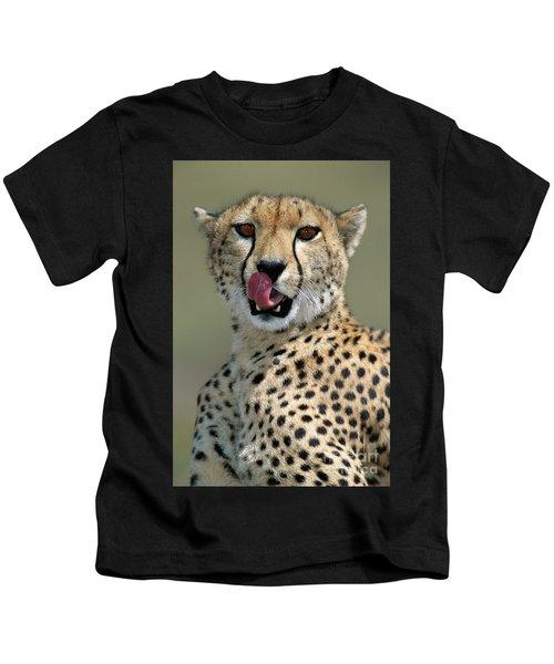 Cheetah Licking  Kids T-Shirt
