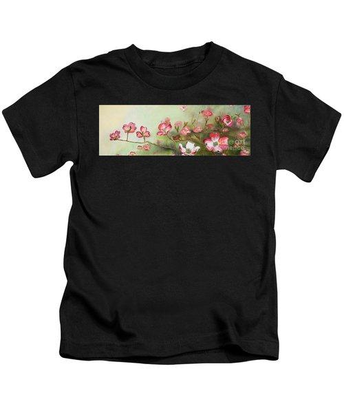 Cherokee Dogwood - Brave- Blushing Kids T-Shirt