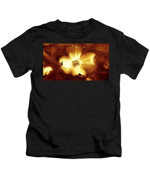 Cherokee Rose Dogwood - Single Glow Kids T-Shirt