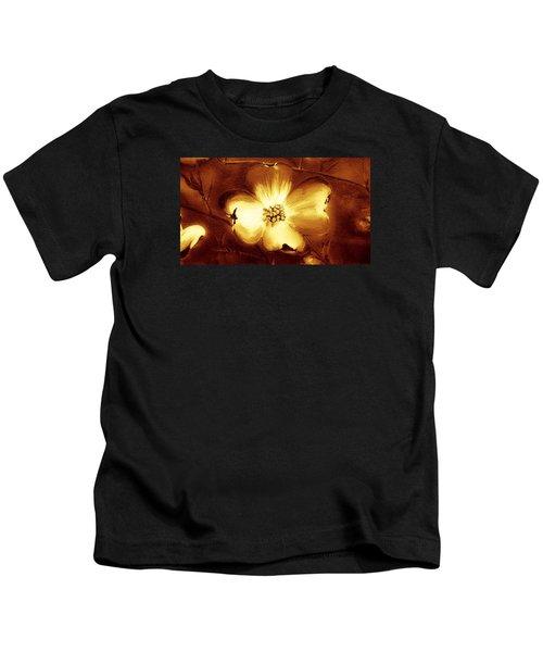 Cherokee Rose Dogwood - Single Glow Kids T-Shirt