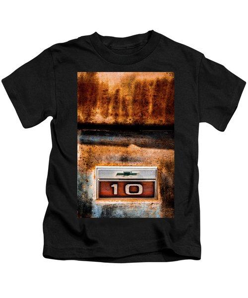 Chevy C10 Rusted Emblem Kids T-Shirt