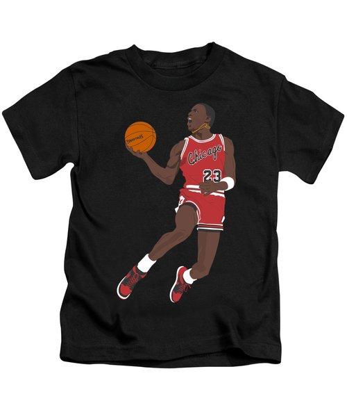 Chicago Bulls - Michael Jordan - 1985 Kids T-Shirt by Troy Arthur Graphics