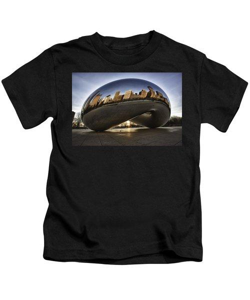 Chicago Cloud Gate At Sunrise Kids T-Shirt