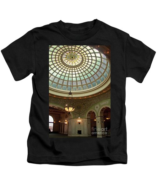 Chicago Cultural Center Dome Kids T-Shirt