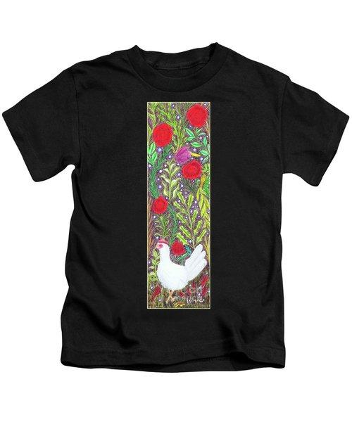 Chicken With An Attitude In Vegetation Kids T-Shirt