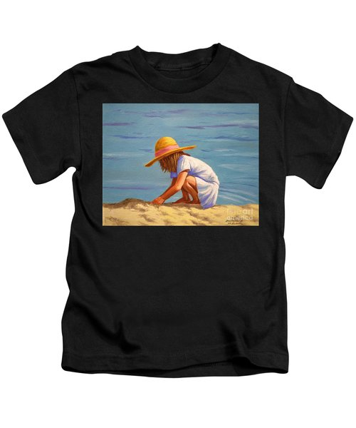 Child Playing In The Sand Kids T-Shirt