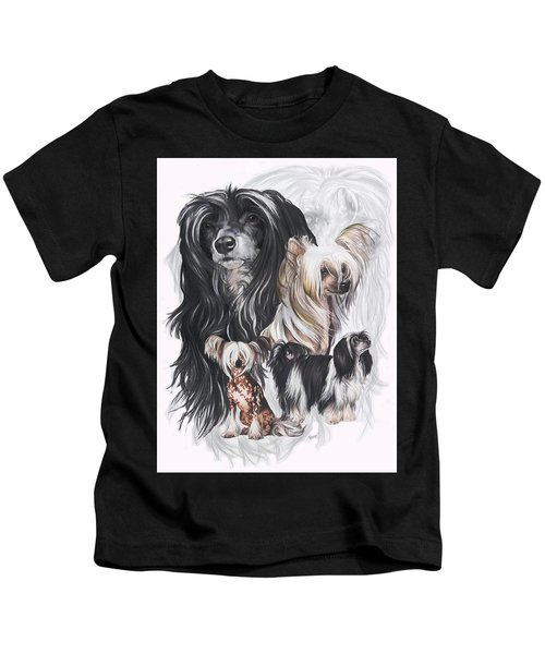 Chinese Crested And Powderpuff Medley Kids T-Shirt