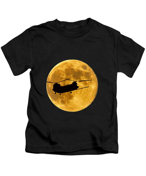 Chinook Moon Color .png Kids T-Shirt