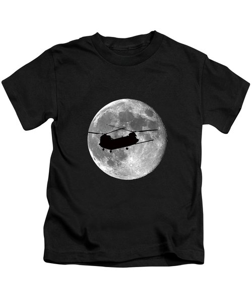 Chinook Moon .png Kids T-Shirt by Al Powell Photography USA