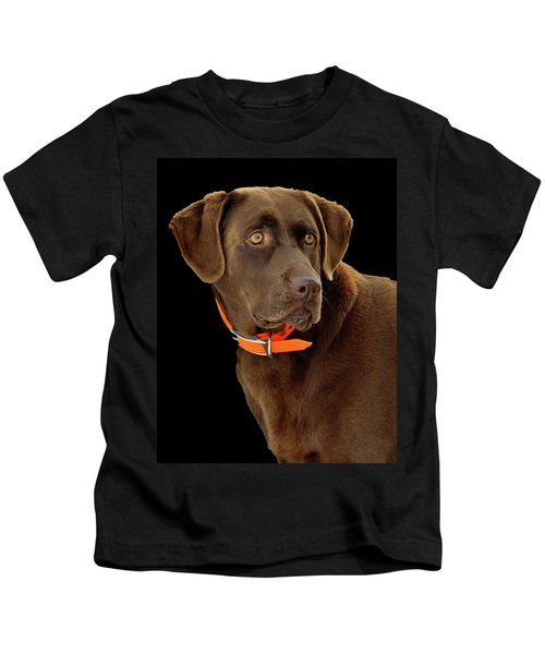 Kids T-Shirt featuring the photograph Chocolate Lab by William Jobes