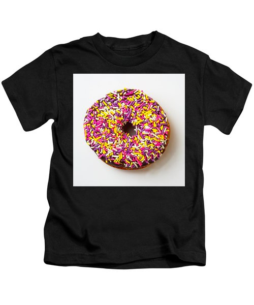 Cholocate Donut With Sprinkles Kids T-Shirt
