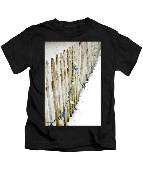 Christmas Fence Kids T-Shirt