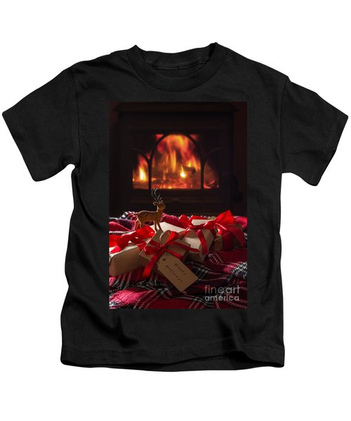 Christmas Gifts By The Fire Kids T-Shirt