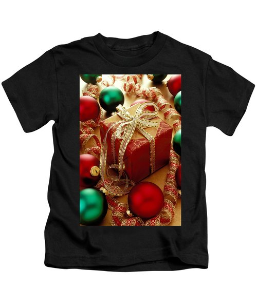 Christmas Present And Ornaments Kids T-Shirt