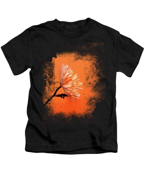 Chrysanthemum Orange Kids T-Shirt by Mark Rogan
