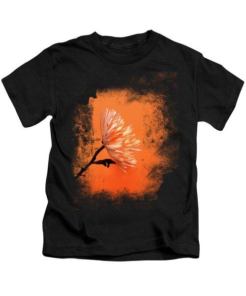 Chrysanthemum Orange Kids T-Shirt