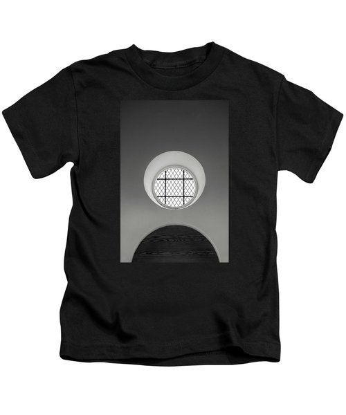 Church Window In Black And White Kids T-Shirt