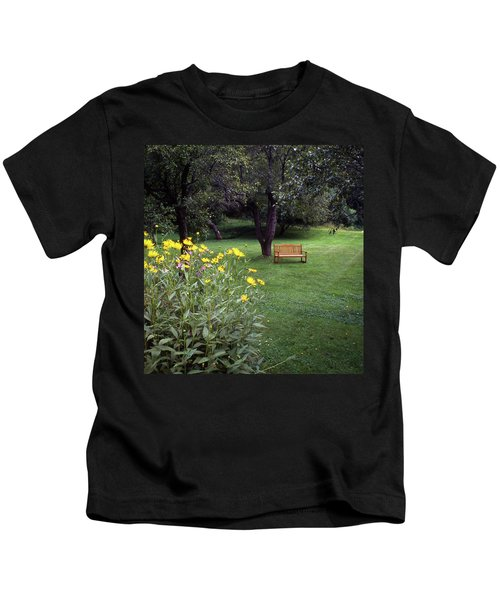 Churchyard Bench - Woodstock, Vermont Kids T-Shirt