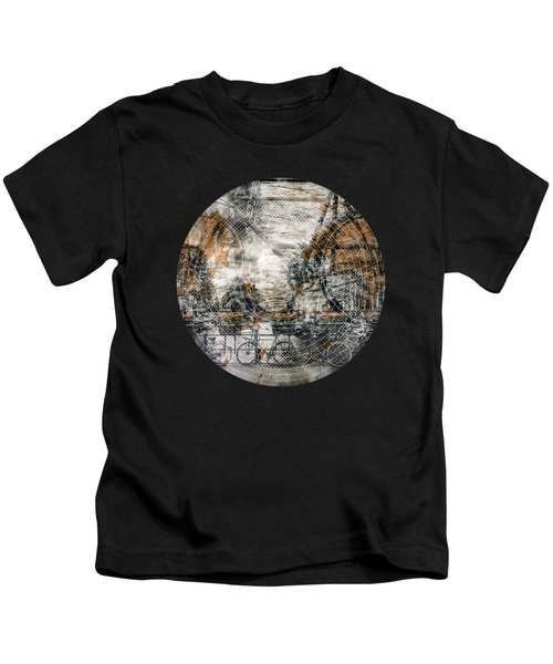 City-art Amsterdam Bicycles  Kids T-Shirt