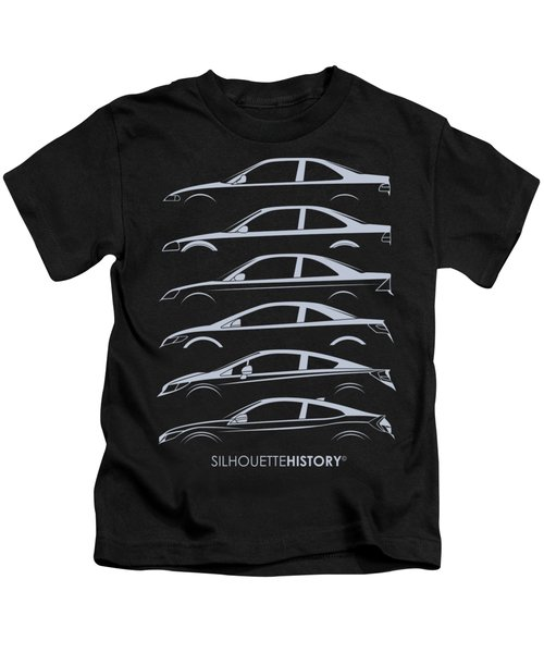 Civil Coupe Silhouettehistory Kids T-Shirt