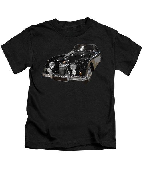 Classic Jaguar In Black Art Kids T-Shirt
