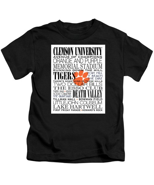 Clemson University Subway Art Kids T-Shirt