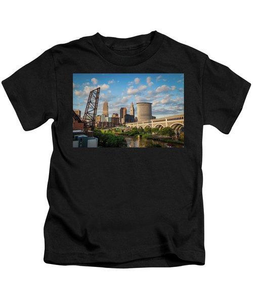 Cleveland Summer Skyline  Kids T-Shirt