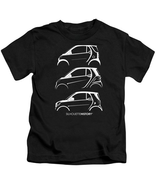 Clever Coupe Silhouettehistory Kids T-Shirt