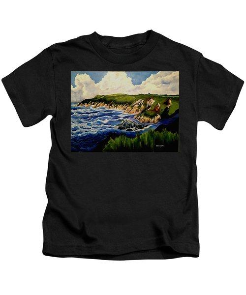 Cliffs And Sea Kids T-Shirt