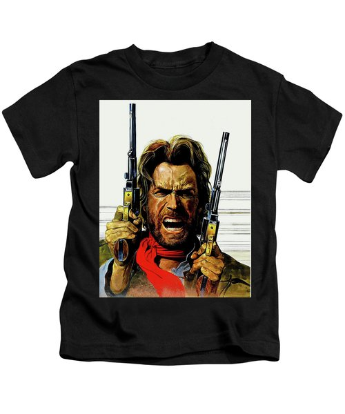 Clint Eastwood As Josey Wales Kids T-Shirt