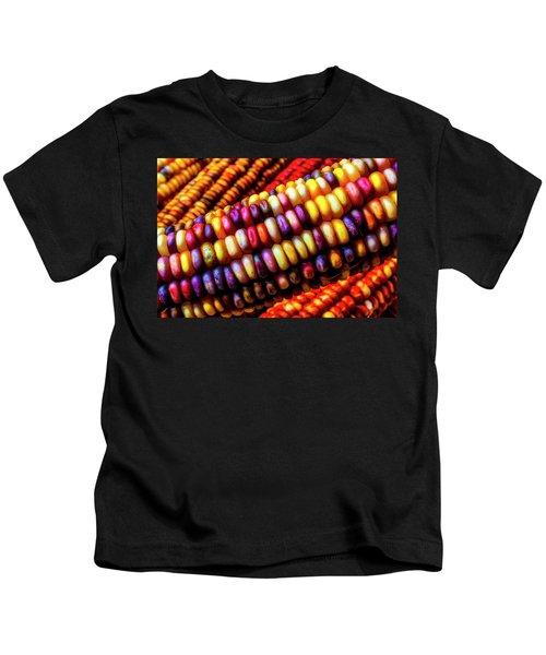 Close Up Indian Corn Kids T-Shirt