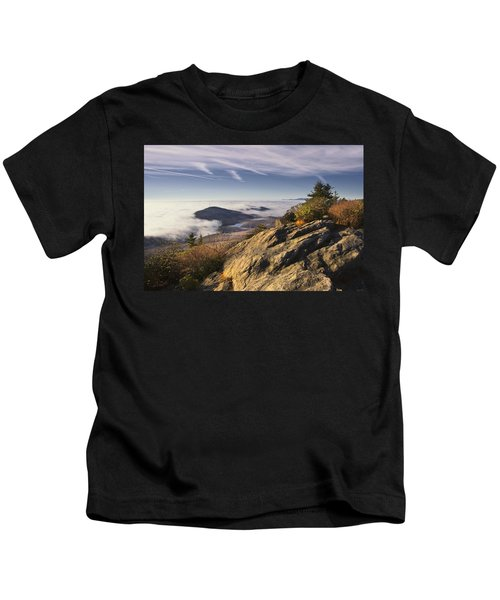 Clouds Over Grandmother Mountain Kids T-Shirt