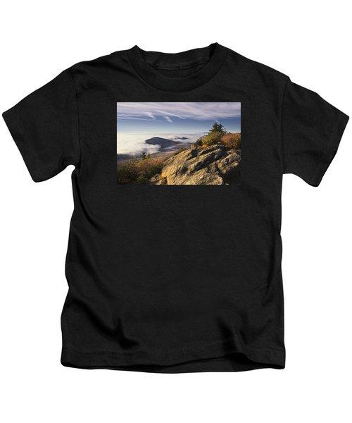 Clouds Over Grandmother Mountain Kids T-Shirt