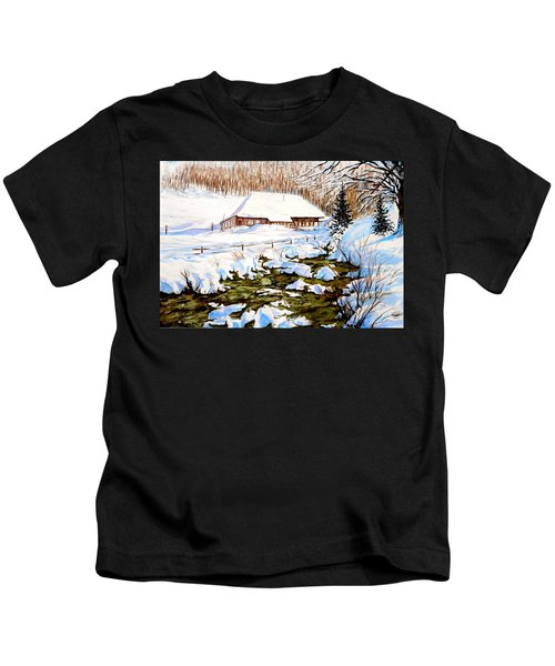Clubhouse In Winter Kids T-Shirt