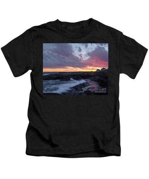 Coastal Sunset Cape Neddick - York Maine  -21056 Kids T-Shirt