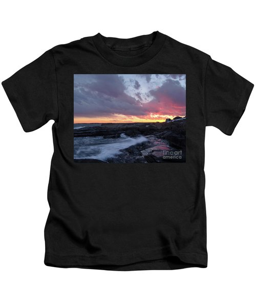Coastal Sunset Cape Neddick - York Maine  -21056 Kids T-Shirt