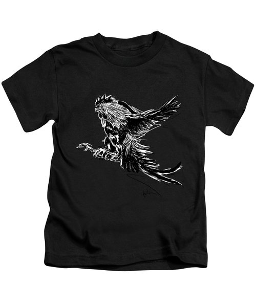 Cock Bw II Transparant Kids T-Shirt