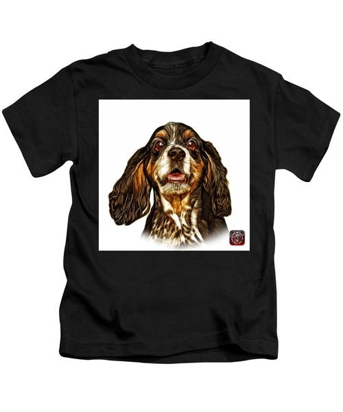 Cocker Spaniel Pop Art - 8249 - Wb Kids T-Shirt