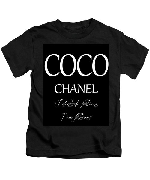 Coco Chanel Quote Kids T-Shirt