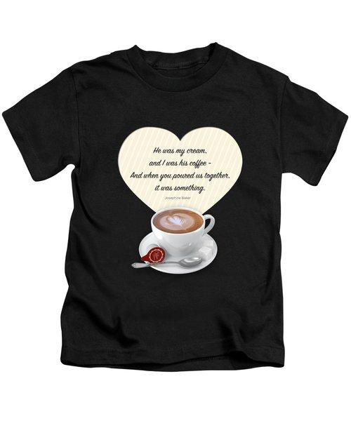Coffee And Cream Kids T-Shirt