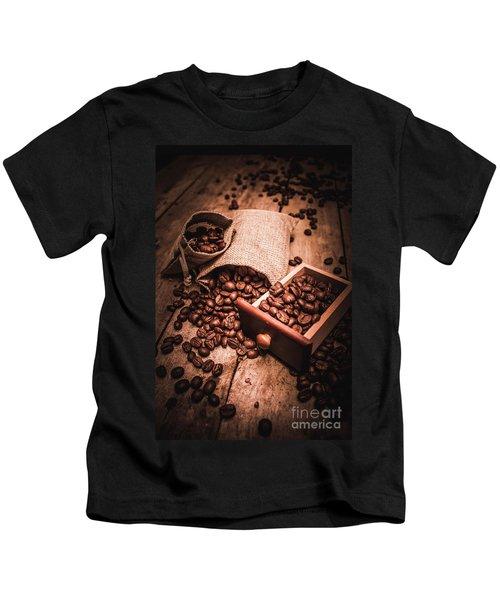 Coffee Bean Art Kids T-Shirt