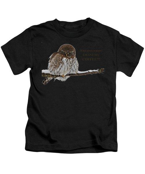 Coffee Owl Kids T-Shirt