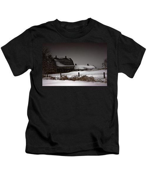 Cold Winter Night Kids T-Shirt