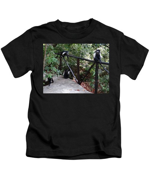 Colobus Monkeys At Sands Chale Island Kids T-Shirt