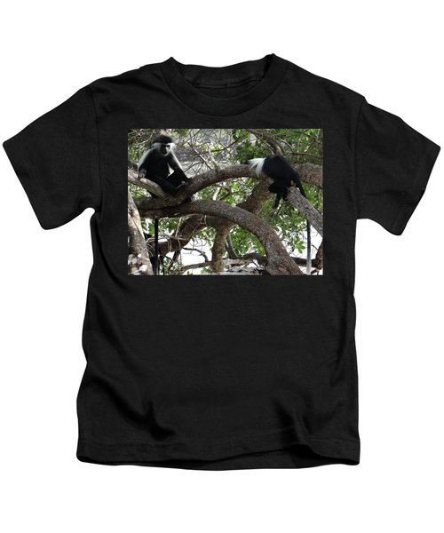 Colobus Monkeys Sitting In A Tree Kids T-Shirt
