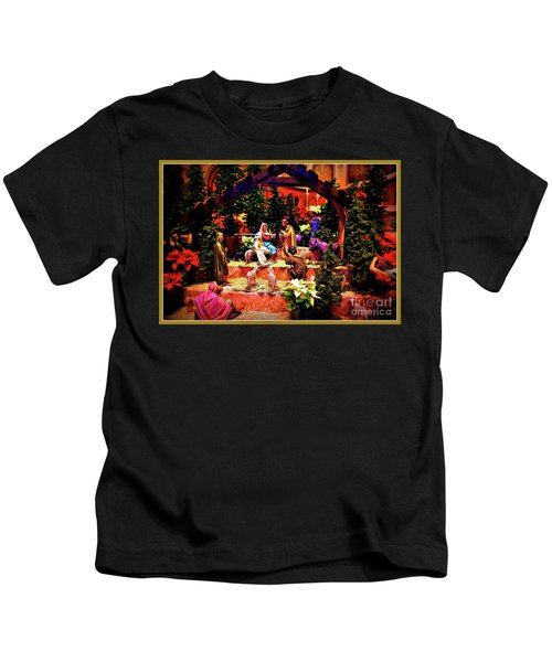 Color Vibe Nativity - Border Kids T-Shirt