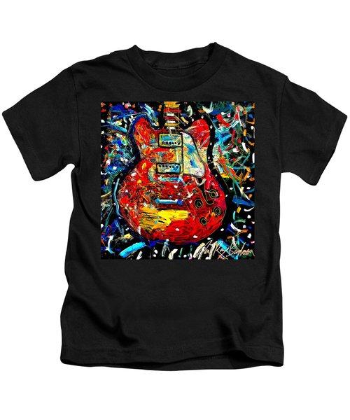 Color Wheel Guitar Kids T-Shirt